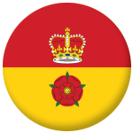 Hampshire County Flag 58mm Fridge Magnet